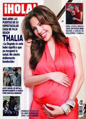 Thalia diz ter recuperado a saúde com gravidez Reprodução, revista Hola /