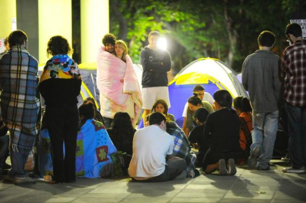 Alunos acampam na UFRGS para reivindicar novos moldes nas eleições de 2012 Jean Schwarz/Agencia RBS