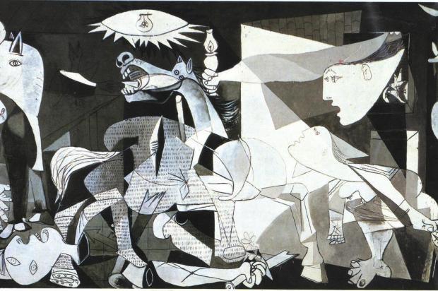 """""""Guernica"""", de Picasso, completa 30 anos na Espanha Ver Descrição/Ver Descrição"""
