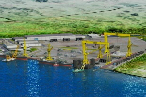 Estaleiro de R$ 1, 2 bilhão em São José do Norte recebe licença prévia para construção  EBR/Reprodução