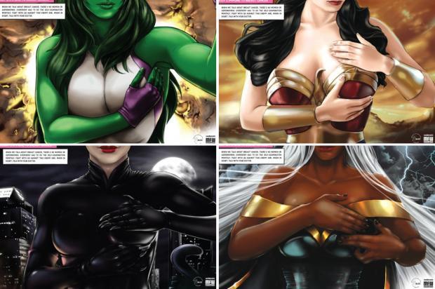Campanha publicitária mostra super-heroínas na luta contra o câncer de mama ALCC, Divulgação /