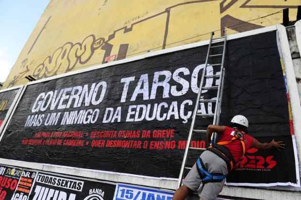 Cpers cria outdoors contra o governo Tarso Lauro Alves/