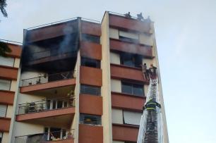 Idosa morre em incêndio em apartamento na zona norte de Porto Alegre Ramon Nunes/Agencia RBS