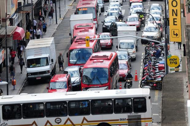 Agricultores protestam e causam congestionamento na chegada e no centro de Porto Alegre Ronaldo Bernardi/