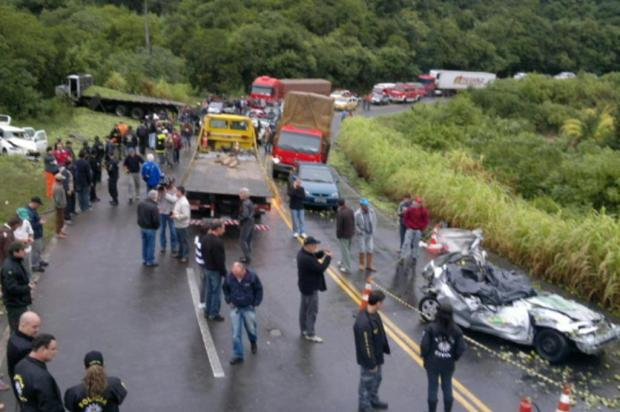 Repórter e cinegrafista morrem em acidente grave em Farroupilha Ricardo Wolffenbüttel/Agência RBS