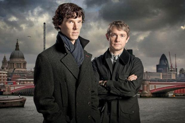 RBS Publicaes d, em promoo, box com a srie Sherlock bbc/Divulgao
