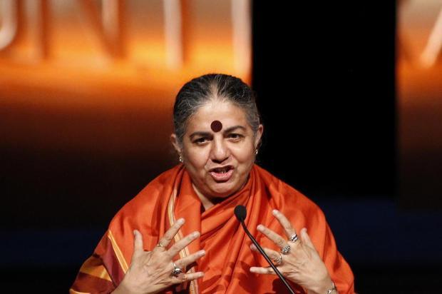 Vandana Shiva afirma que a humanidade passa por um período de incertezas Diego Vara/Agencia RBS