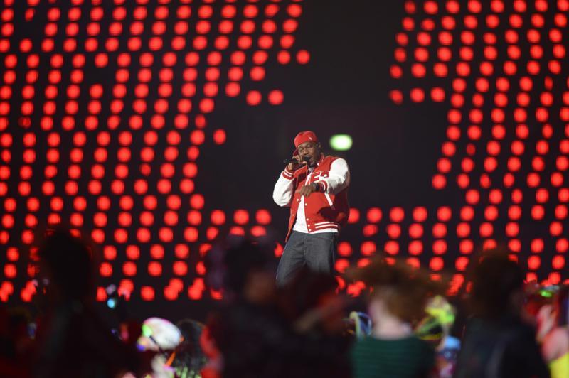 O rapper britânico Dizzee Rascal fez performance em Londres:imagem 35
