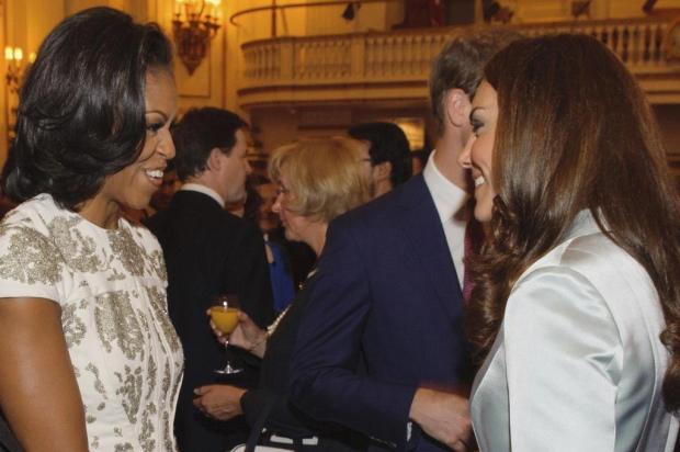 Encontro: Kate Middleton recebe Michelle Obama em Londres Dominic Lipinski/AP Photo