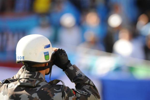 Secretaria de Segurança quer menos brigadianos fazendo segurança interna em jogos da dupla Gre-Nal Fernando Gomes/Agencia RBS