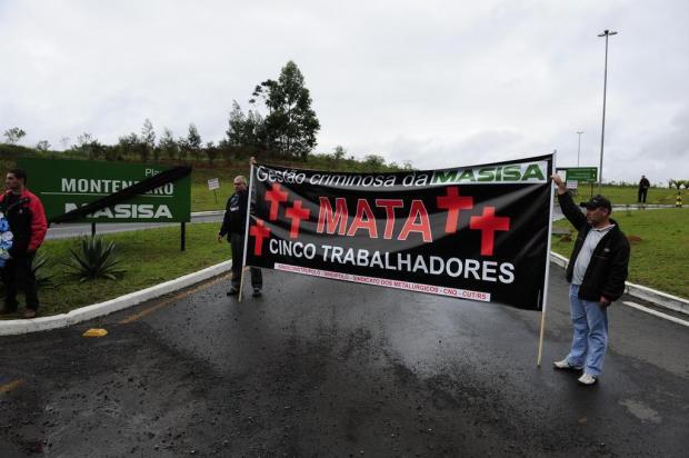 Manifestação interrompe acesso ao polo petroquímico de Triunfo Ronaldo Bernardi/Agência RBS