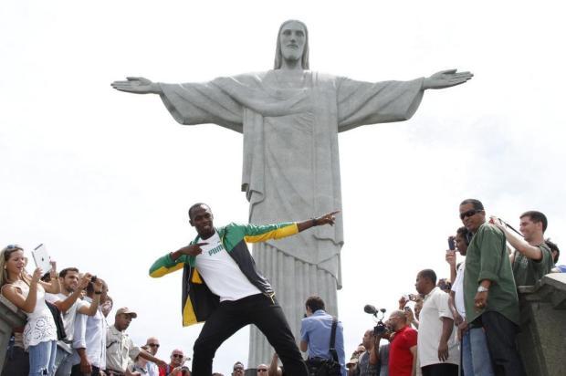 Recordista mundial Usain Bolt visita o Rio de Janeiro Roberto Filho/AgNews