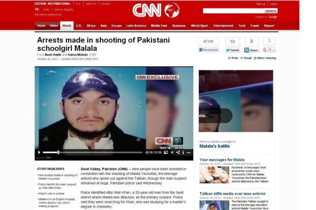 Suspeitos de ataque a jovem ativista do Paquistão são presos, diz CNN cnn/Reprodução