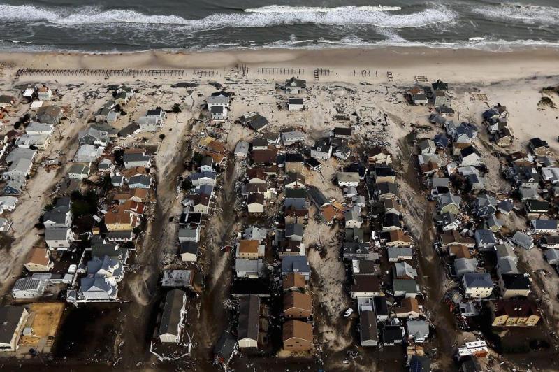 Vista aérea de Heights, em Nova Jersey, mostra casas destruídas.:imagem 10