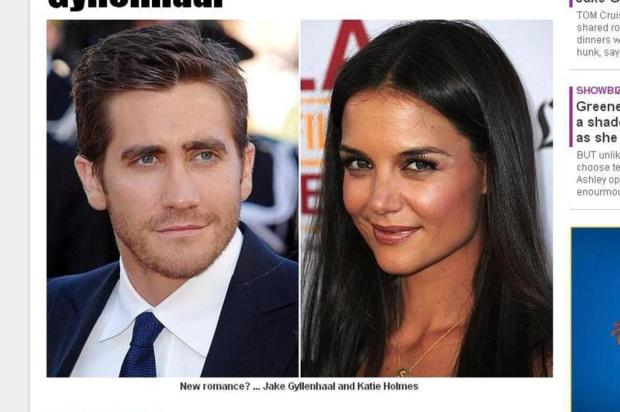 Katie Holmes estaria vivendo romance com Jake Gyllenhaal The Sun/Reproduo