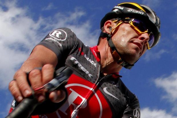 Discovery exibe primeira entrevista do ciclista Lance Armstrong após polêmica sobre doping JOSE JORDAN/AFP