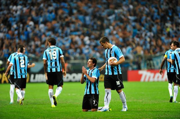 Nos pênaltis, Grêmio consegue classificação para a fase de grupos da Libertadores Diego Vara/