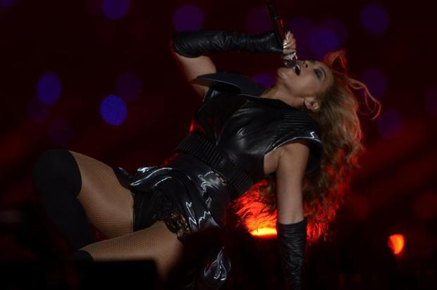 Beyoncé faz show empolgante na final do Super Bowl  Timothy A. Clary/AFP