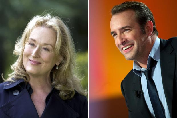 Meryl Streep e Jean Dujardin sero apresentadores na festa do Oscar Divulgao e AFP /