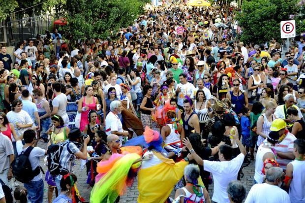 Foliões tomam a Rua Sofia Veloso, na Capital, em carnaval fora de época Adriana Franciosi/Agencia RBS