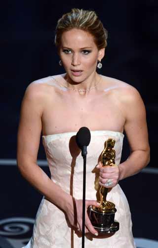 A Melhor Atriz foi Jennifer Lawrence pelo filme pela atuação no filme O lado bom da vida:imagem 4