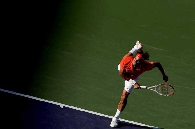 Federer vence Dodig e avança às oitavas no Masters 1000 de Indian Wells MATTHEW STOCKMAN / GETTY IMAGES NORTH AMERICA / AFP/