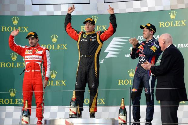 Raikkonen vence o GP da Austrália e Massa chega em quarto WILLIAM WEST/AFP