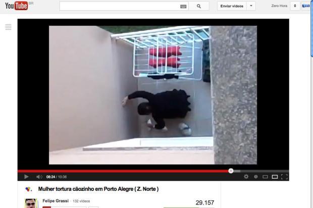 Mulher que agrediu poodle em Porto Alegre, em 2013, terá de pagar R$ 2,6 mil Reprodução/