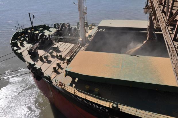 Soja impulsiona exportações gaúchas Lorena Garibaldi/Sup. Porto de Rio Grande