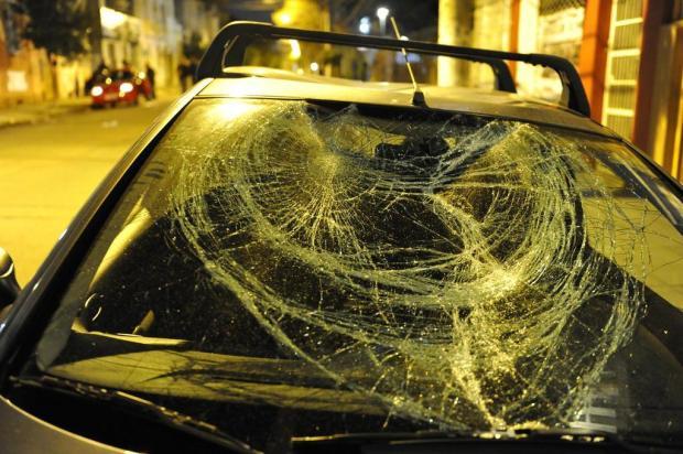 Protestos na Capital deixam esperanças e vidraças despedaçadas  Adriana Franciosi/Agencia RBS