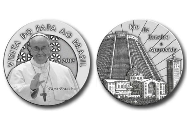 Casa da Moeda lança medalhas em homenagem ao papa Francisco Reprodução/Agência Brasil
