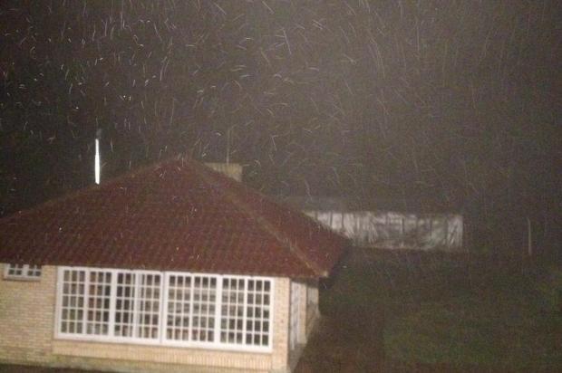 Morador registra chuva congelada em Encruzilhada do Sul Arquivo pessoal/Arquivo pessoal