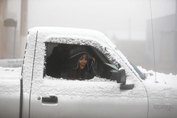 Neve é registrada em pelo menos quatro cidades gaúchas Félix Zucco/Agencia RBS