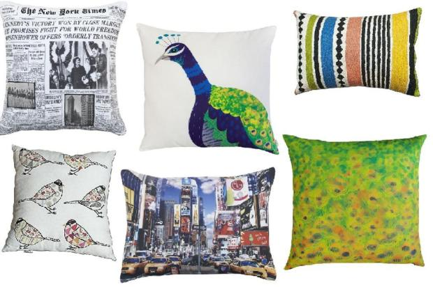 Em tamanhos, tecidos, estampas e acabamentos variados, as almofadas dão conforto e personalizam o ambiente Montagem/Divulgação