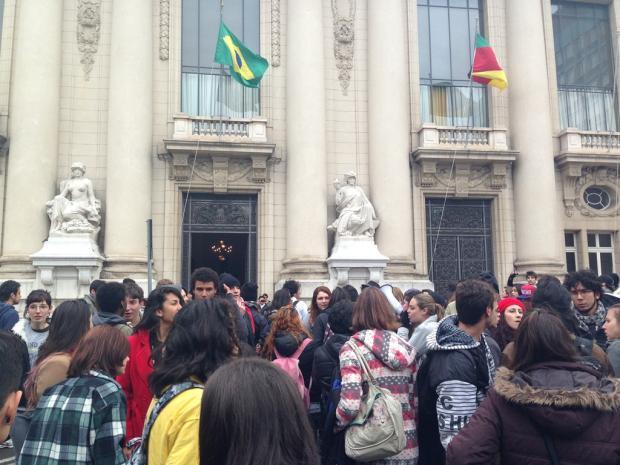 Estudantes e professores protestam contra ensino politécnico na Assembleia Legislativa e no Palácio Piratini Bruna Scirea/Agência RBS