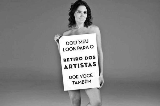 Famosas tiram a roupa por causa beneficente Retiro dos Artistas/Divulgação