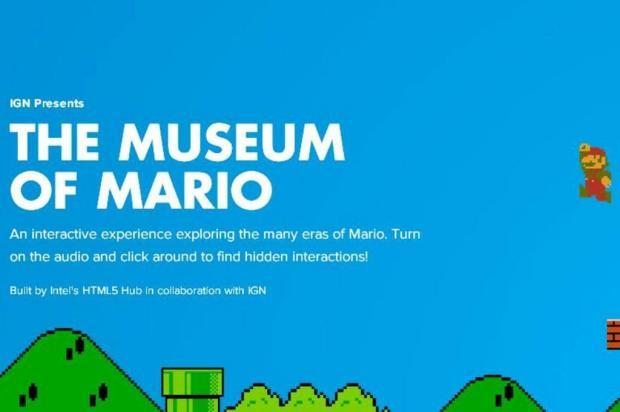 Trajetória do personagem Mario vira museu digital Reprodução/Reprodução