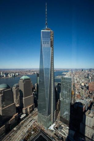 Inaugurada primeira torre do novo World Trade Center em Nova York  Andrew Burton/AFp