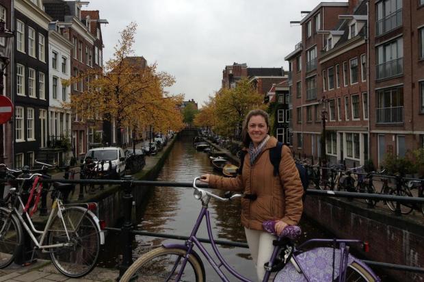 Em Amsterdã, a regra é pedalar arquivo pessoal/Arquivo Pessoal