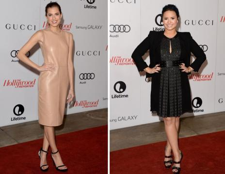 Look do dia: Demi Lovato e Allison Williams apostam em cores neutras (AFP/)
