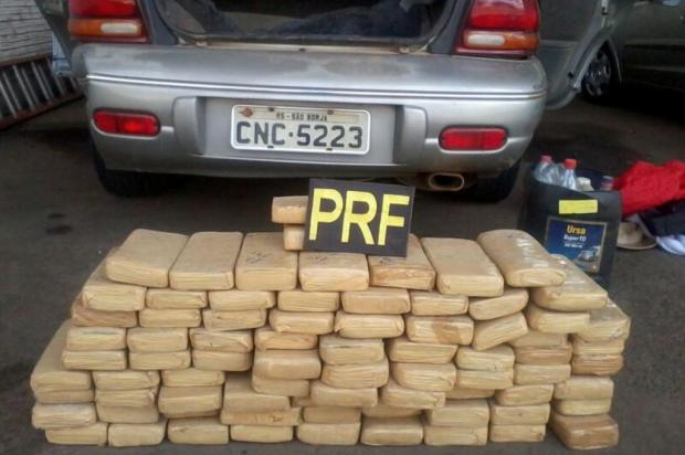 PRF apreende mais de 60 kg de maconha em Santana do Livramento Polícia Rodoviária Federal/Divulgação