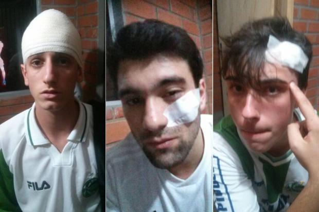 Juventude divulga nota sobre agressões a torcedores do clube em Novo Hamburgo Montagem sobre as fotos de arquivo pessoal de Luã Lorenzi/