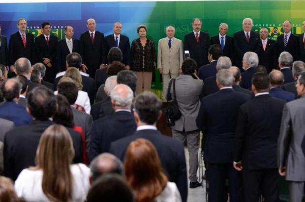 Boicote de bancada do PMDB a posse de ministros reforça ideia de racha na base aliada Marcelo Camargo/Agência Brasil