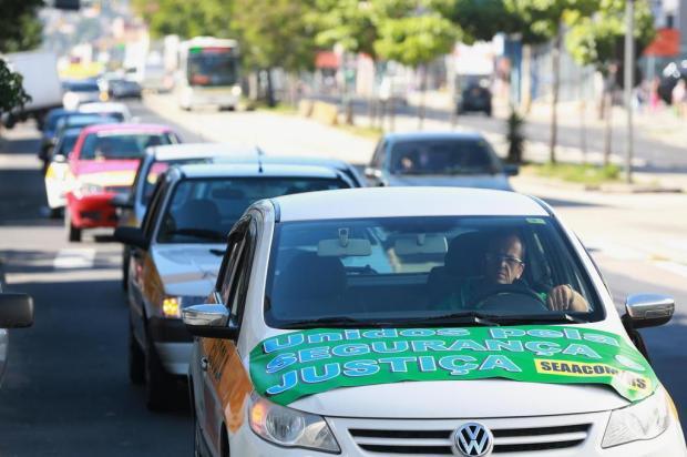 Instrutores de autoescola protestam para lembrar morte de colega em Porto Alegre Diego Vara/Agencia RBS