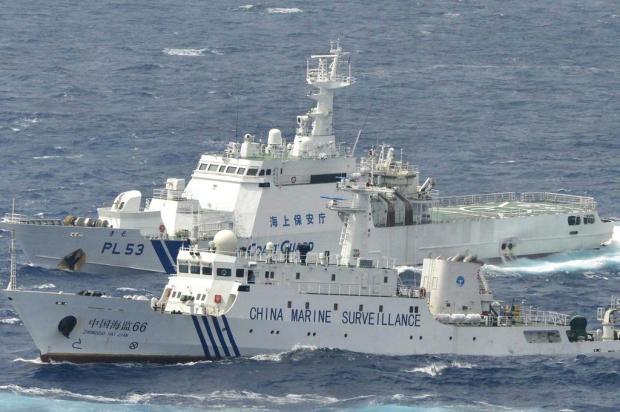 Dois navios chineses entram em águas territoriais japonesas Kyodo New/AP