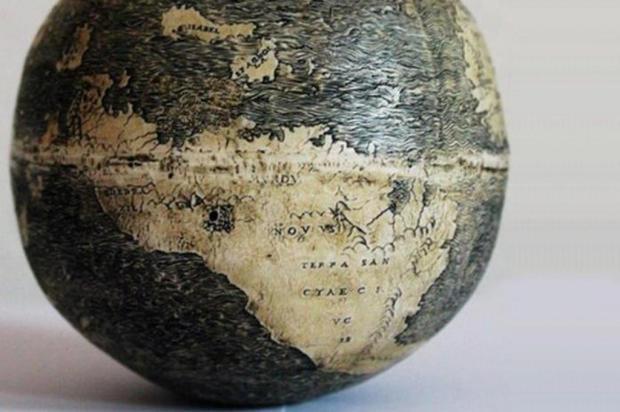 Descoberto em ovos de avestruz o mais antigo globo com mapa do Brasil Washington Map Society/Divulgação